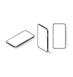 modern smartphone with blank screen mockup vector image
