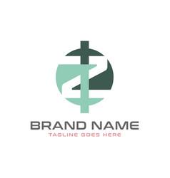 monogram logo design with letter zi vector image