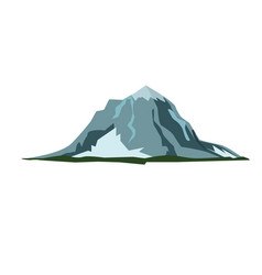 Mountain landscape snow nature travel hiking peak vector