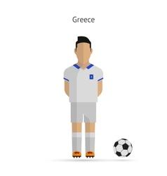 National football player Greece soccer team vector