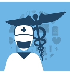 nurse medical service vector image