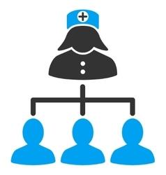 Nurse Patients Icon vector