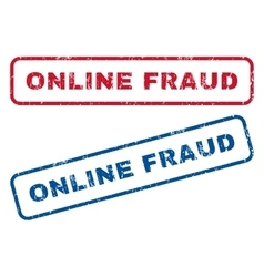 Online Fraud Rubber Stamps vector