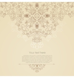 Oriental floral ornament background with place vector