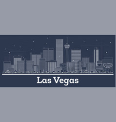 outline las vegas nevada city skyline with white vector image