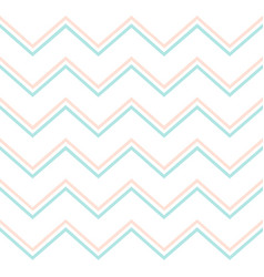 pastel mint and pink chevron pattern modern vector image