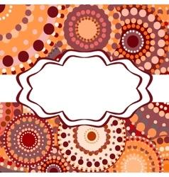 Patterned frame background invitation circular vector image