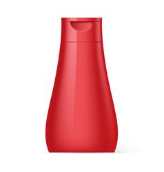 plastic bottle shampoo packaging vector image