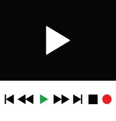 play icon color vector image