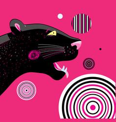 Portrait a black panther vector