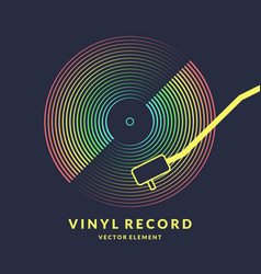 poster of the vinyl record on vector image