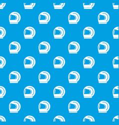 racer helmet pattern seamless blue vector image