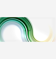 rainbow fluid color line abstract background vector image