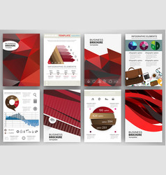 red backgrounds abstract concept infographics and vector image