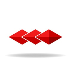 Red rhombus technology or business logo vector