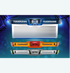 Scoreboard broadcast graphic and lower thirds vector
