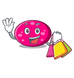 shopping ellipse character cartoon style vector image