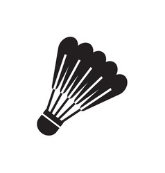 shuttlecock icon design template isolated vector image