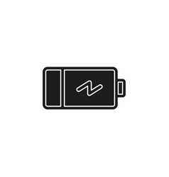 simple battery icon vector image