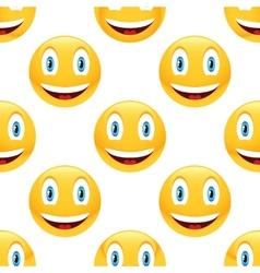 Smiling emoticon pattern vector image