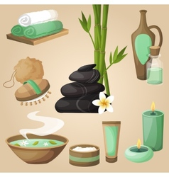 Spa icons concept vector image