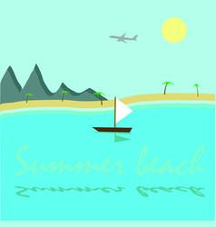 summer beach top vector image