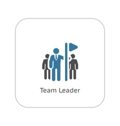 Team Leader Icon Flat Design vector image