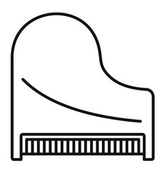 Top view classic grand piano icon outline style vector