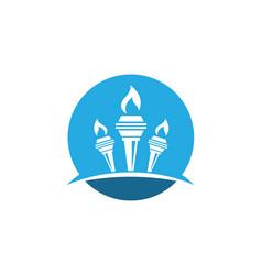Torch logo icon design vector