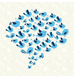 Twitting social birds campaign vector image