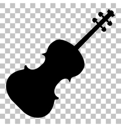 Violine sign Flat style black icon vector image