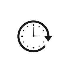 work hours icon design template isolated vector image