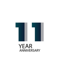 Year anniversary template design blue elegant vector