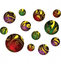 abstract balls vector image vector image