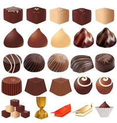 assortment of different sweets vector image