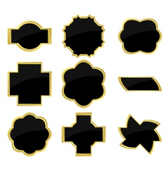 black and golden frames vector image vector image