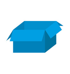 blue box open icon vector image vector image