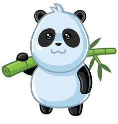 Cute Little Panda Cartoon vector image vector image