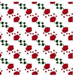 dark red rose pattern vector image