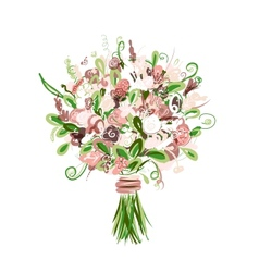 Floral bouquet for your design vector image vector image