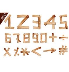 Old Grunge Wooden Alphabet number vector image vector image