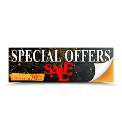Sale special offer design with percent discount vector image vector image