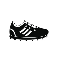 Soccer shoes black simple icon vector image vector image