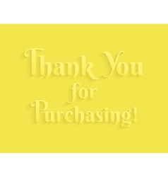 Thank you message vector image vector image