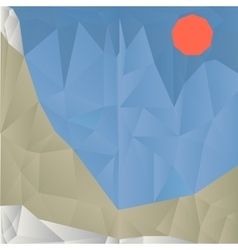 Triangle mountain geometric background vector image