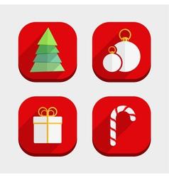 Flat Christmas Icons vector image vector image