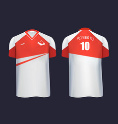 football uniform template front and back view vector image