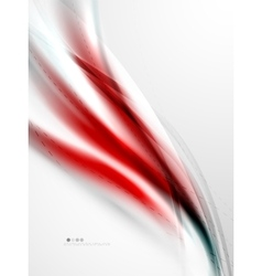 Red wave abstract background vector image vector image