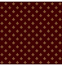 Royal Lily Fleur de Lis Seamless Pattern vector image