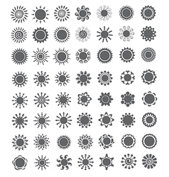 Set of decorative sun Logo and design elements vector image